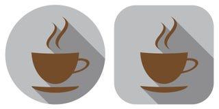 Икона кофе дом кофе капучино barman подготовляет Значок в плоском дизайне иллюстрация штока