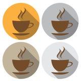 Икона кофе дом кофе капучино barman подготовляет Значок в плоском дизайне бесплатная иллюстрация