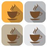 Икона кофе дом кофе капучино barman подготовляет Значок в плоском дизайне иллюстрация вектора