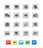 икона кубика gray01 Стоковые Изображения