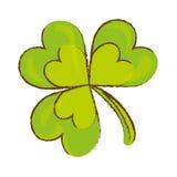 икона клевера зеленая бесплатная иллюстрация