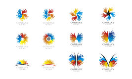 Икона логоса установленная Стоковые Фото