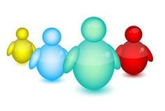 Икона людей Msn Стоковые Фото