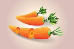 икона моркови Стоковые Изображения RF