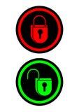 Икона обеспеченностью Стоковое Изображение RF