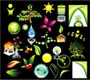 икона окружающей среды рециркулирует комплект Стоковые Изображения RF