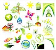 икона окружающей среды рециркулирует комплект Стоковые Изображения