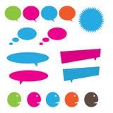 Говоря и думая пузыри Стоковое Изображение RF