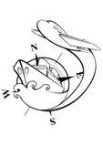 Икона перемещения Стоковые Изображения