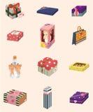 икона подарков шаржа Стоковая Фотография RF