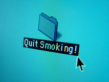 икона прекратила курить Стоковое фото RF