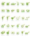 икона принципиальной схемы зеленая Стоковые Фотографии RF