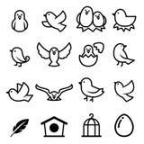 Икона птицы иллюстрация вектора