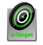 икона рекламы E-цели Стоковые Фото