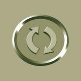 икона рециркулирует Стоковое Изображение RF