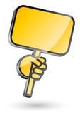икона руки держа знак Стоковые Изображения