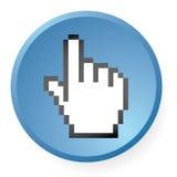 икона руки компьютера Стоковое фото RF