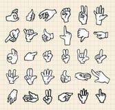 икона руки Стоковые Фото