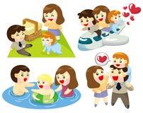 икона семьи шаржа Стоковые Изображения