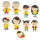 Икона семьи шаржа Стоковая Фотография