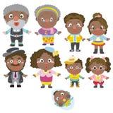 Икона семьи шаржа Стоковые Изображения RF