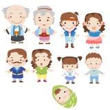 Икона семьи шаржа Стоковое Фото