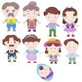 Икона семьи шаржа Стоковая Фотография RF