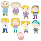 Икона семьи шаржа Стоковые Фото