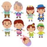Икона семьи шаржа Стоковое фото RF