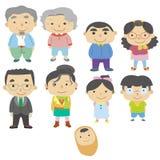 Икона семьи шаржа Стоковые Фотографии RF