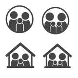 Икона семьи Стоковые Фото