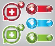 Икона скорой помощи застегивает иллюстрацию Стоковое Изображение