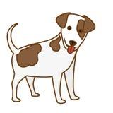 Икона собаки шаржа стоковое фото