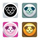 икона собаки Стоковые Фото