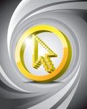 икона стрелки 3d Стоковое Изображение RF