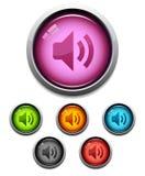 икона тональнозвуковой кнопки Стоковые Фото