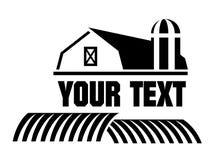 икона фермы амбара Стоковое Изображение