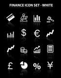 икона финансов отражает комплект Стоковые Фото