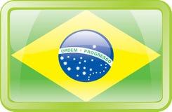 икона флага Бразилии Стоковое Изображение RF