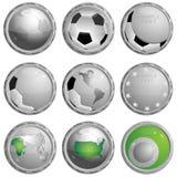 икона футбола Стоковое Изображение