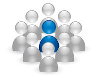 икона человека группы Стоковое Изображение