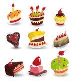 икона шаржа торта Стоковая Фотография