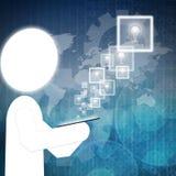 Икона шариков на touch-screen Стоковые Фото