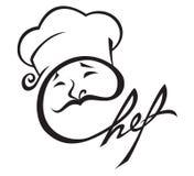 икона шеф-повара Стоковые Изображения RF