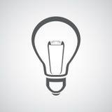 Икона электрической лампочки Стоковая Фотография