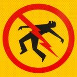 икона электрической опасности опасности Стоковое Изображение