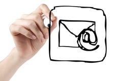 икона электронной почты чертежа стоковые фото