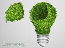 икона энергии зеленая Стоковые Изображения RF