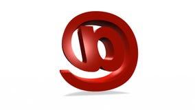 икона электронной почты 3d иллюстрация штока