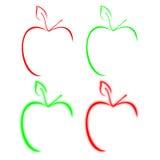 икона яблока Стоковые Фото